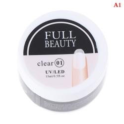 15 ml nagelförlängningsbyggare gel för naglar UV-nagellack A1