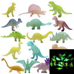 16st / set lysande jurassic noctilucent dinosaurie leksaker lyser i th one size