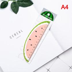 1 st Söt trä rak linjal kreativ frukt skola kontor Supp Watermelon