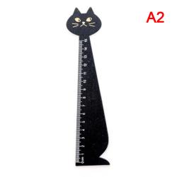 1 st Ny katt rak linjal trä Kawaii verktyg brevpapper Cartoo