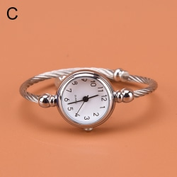 1 st silver armband klockor dam mode armband kvarts klocka s C