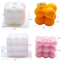 2-pack ljusformar, 3D-handgjorda ljusformar för Candle Maki