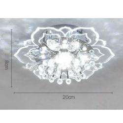 20cm 9W Modern Crystal LED-taklampa Hall Pendan White 20*8CM