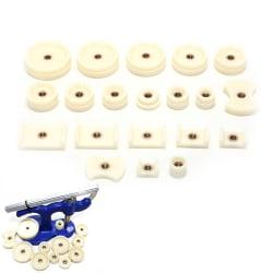 20st klocka tillbaka press montering dör klockor reparationssats runda och r white