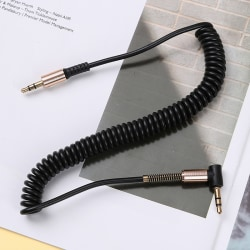 3,5 mm ljudkabel 3,5-jack till aux-kabel hörlurar slår högtalare Black