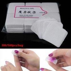 300/540st Luddfri Nail Art Wipes Paper Pad Bomull Nagellack 540pcs