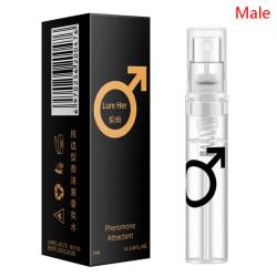 3ML Feromon Sexparfym Män Kvinnor Sexattraktion Flirt Fragra Male
