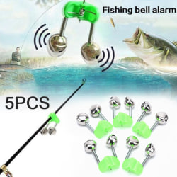 5st Night Fishing Twin Rod Clamp Bell Ring Bite Alarm Tackle Ac 5pcs