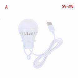 5V 3W-12W USB-lampa bärbar lampa LED för vandring camping Te A