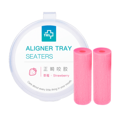 aligner chewies 2 st / låda osynlig hållare sits ortodontisk Strawberry