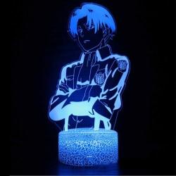 Anime Attack on Titan 3d Led LampDecor Light Captain Levi Acker