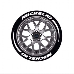 bil bokstäver däck bokstäver dekaler klistermärken för hankook bil dekor White Michelin
