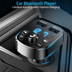 bluetooth version 5.0 fm-sändare bilspelarsats kort bil cha Black