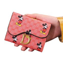 Disney Cartoon Mickey Wallet Children MiniCoin Purse Fashion Cut pink