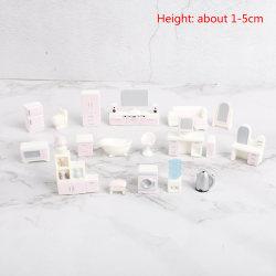 Dollhouse Möbler Set för Dolls House Mini Toy Kit TV Kitchen 22pcs