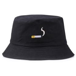 broderi hink hatt för män kvinnor hip hop fiskare hatt platt Black