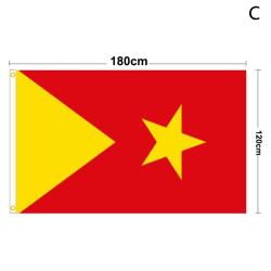 Flagga för Tigray-regionen Etiopien Juldekorationer för Hom 120x180CM