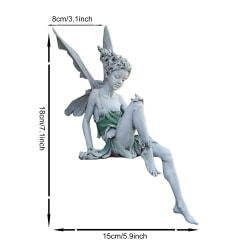 Blomma älva staty inomhus harts älva statyett med vingar älva White