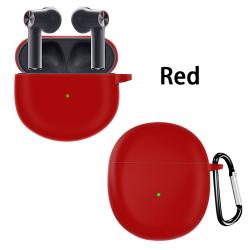 fodral för oneplus buds tws trådlösa Bluetooth-hörlurar täcker enligt Red