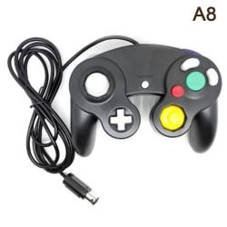 Gamecube Controller kompatibel med Nintendo Wii GC Classic Wire Black