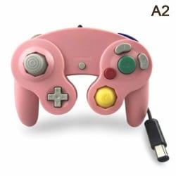 Gamecube Controller kompatibel med Nintendo Wii GC Classic Wire Pink