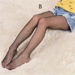 Flicka Spets Nätstrumpor Svart Strumpbyxor Mesh Tights Jeans N B