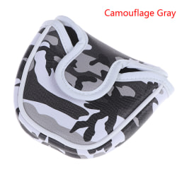 Golf Mallet Putter Cover Headcover Camouflage Pattern Head Prot Gray