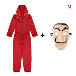 Halloween Cosplay La Casa De Papel Kostym Bodysuit Jumpsuit Out M