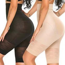 High-Waisted ShaperS Shorts Tummy Control Khaki L