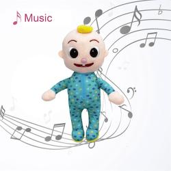 jj cocomelon leksak musikalisk läggdags mjuk plyschdocka för babymusik A
