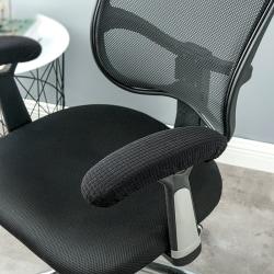 kontorsdator stol armstöd glidskydd täcker dynor flexibl Black