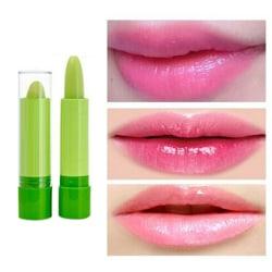 Magisk temperaturbyte Färg Läppstift Fuktgrön till Rosa