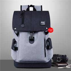Manlig ryggsäck Bussiness Vattentät nylon bärbar ryggsäck Pojkar Sc grey