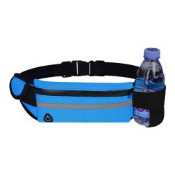 midja väska sport bärbar gym väska håll vatten cykling telefon väska w Dark blue