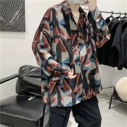 New Fashion långärmad skjorta Ingen järn Retroskjorta