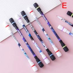 Halkfri roterande penna Spinning Pen rullande penna för barn som lär sig E