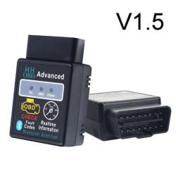 OBD2 ELM327 v1.5 HH OBDII Car Bluetooth Auto Diagnostic Tool Int Black