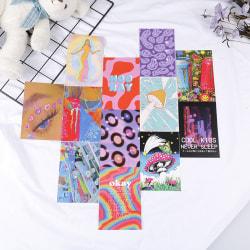 tryckt vägg collage kit rum dekor 50 bilder sovsal konsttryck one size