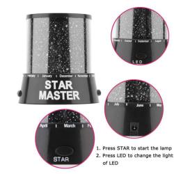 Romantisk fantastisk LED Starry Night Sky Projector Lamp Star light