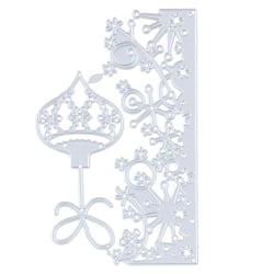 snöflinga spetsar / julklocka skärformar för stämplar klippbok