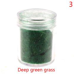 Statiskt gräs torv flockande nylon leksak modell scen 60g sandbord 3(Deep green)