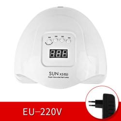 SUN X5 PLUS 80W 36LED LCD-skärm Snabbhärdande UV-lampa Nagellampa White-EU