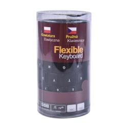 Vattentätt silikontangentbord Vikbart flexibelt USB Mini Dustpro Black
