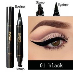 Vattentät Winged Eyeliner Stamp Makeup Kosmetisk Eye Liner Penc black  Small