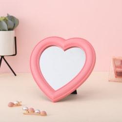 webb kändis kosmetisk spegel dekorativ spegel flicka hjärta stude Light pink