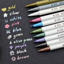 10st Color Metallic Fine Pen Pencil Marker DIY Album Dauber Pe Multi One Size