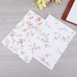 10st färska och eleganta blommor kuvert brevpapper Cherry Rose