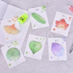 30Sheet söt naturlig växtblad klisterlapp anteckningsblock anteckningsmedlem Perilla