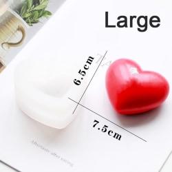 3D kärlek hjärta silikon mögel arom gips ljus form DIY kaka