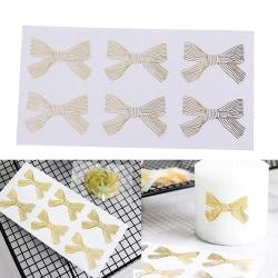 60st / mycket söt guld Bowknot transparent tätning klistermärke DIY hav one size